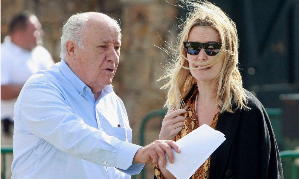 El fundador de Inditex Amancio Ortega junto a su hija Marta Oterga