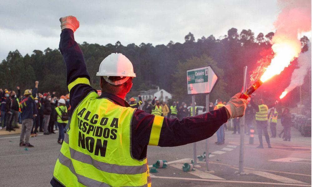 Presión al Gobierno: Alcoa y los trabajadores alfombran la venta de San Cibrao