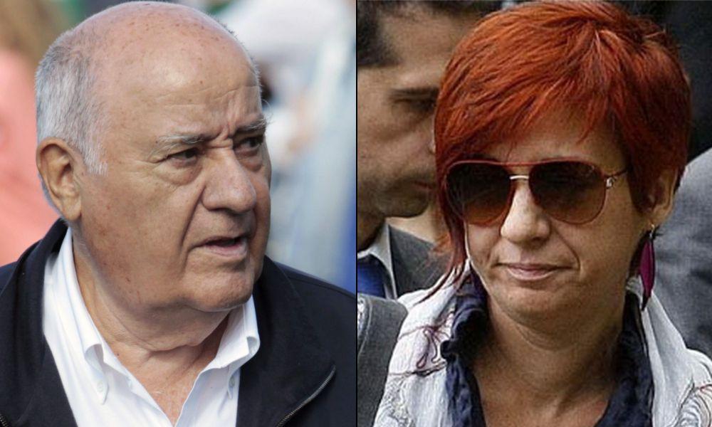 El fundador de Inditex, Amancio Ortega y su hija Sandra
