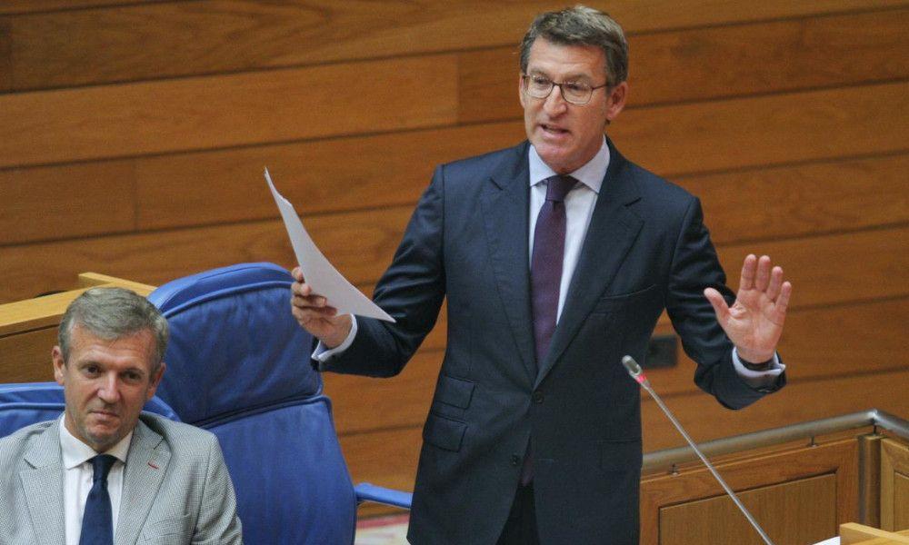 Guerra PP-PSOE en el parlamento gallego a cuenta del 25-N