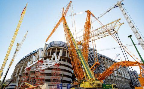 Obras en el estadio Santiago Bernabéu