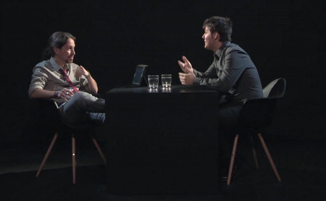 El periodista Jesús Cintora, entrevistado por Pablo Iglesias en 'Otra vuelta de Tuerka' en Público TV