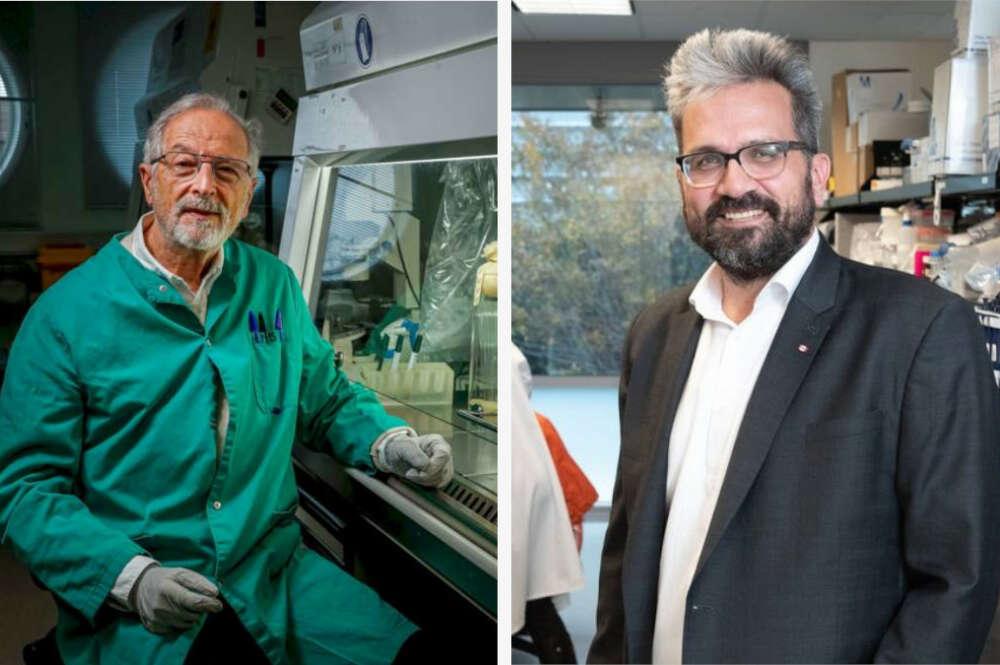 Luis Enjuanes y Nevan Krogan