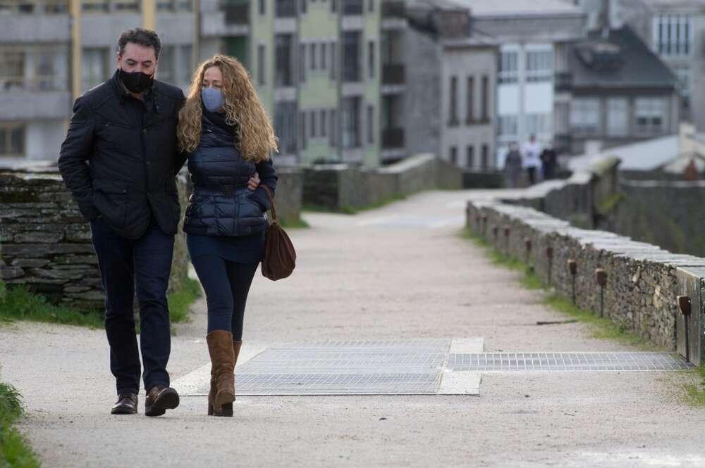 El Covis sigue avanzando en la comunidad gallega, con la tasa de positividad disparada desde Navidad. E.P.