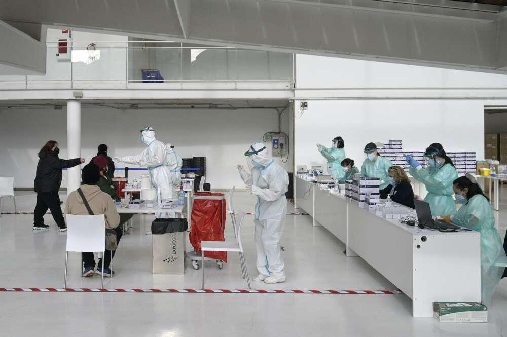 A Coruña acoge un cribado masivo de pruebas PCR entre sus vecinos. Foto: Europa Press