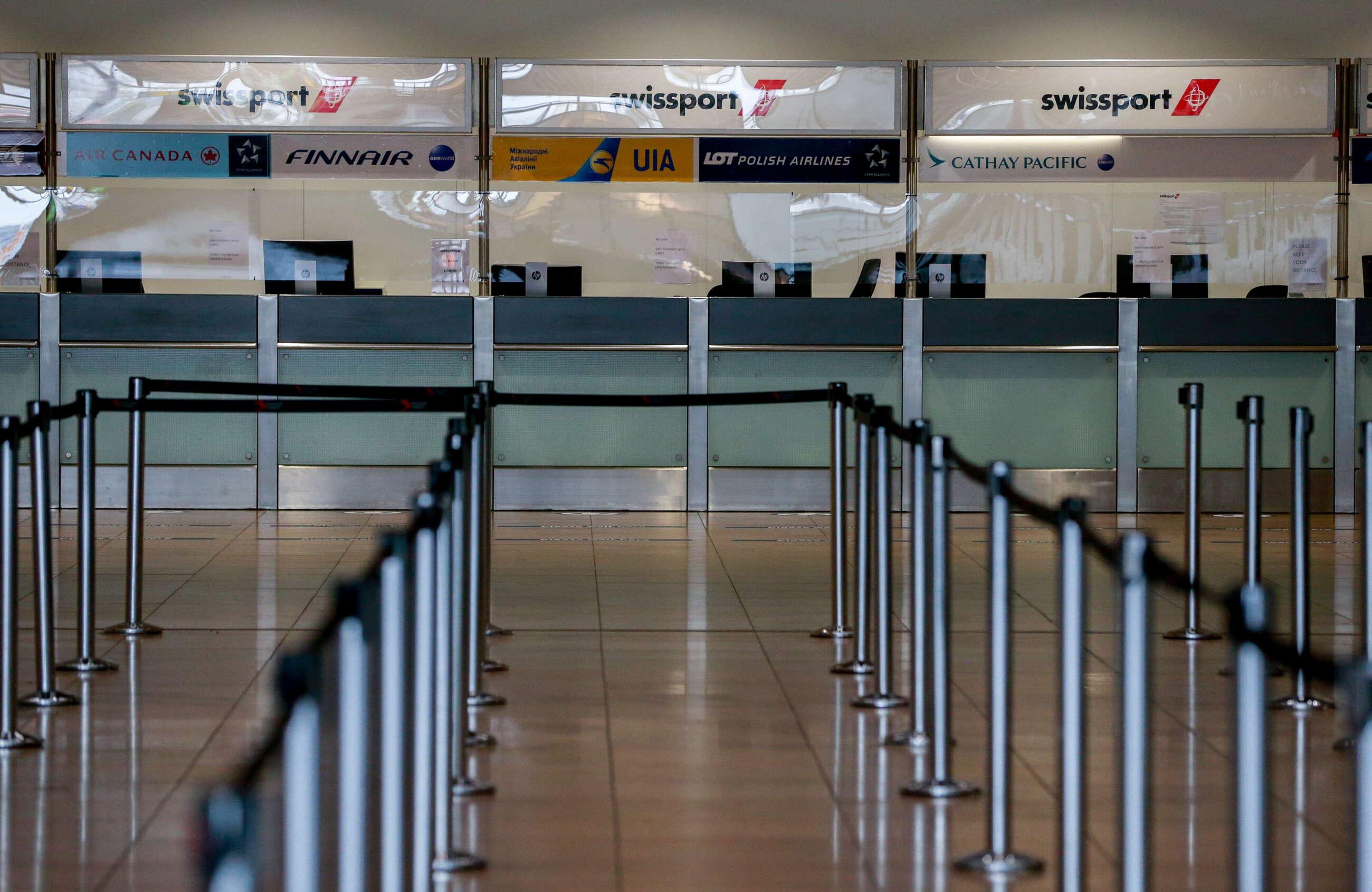 Aeropuerto de Bruselas vacío