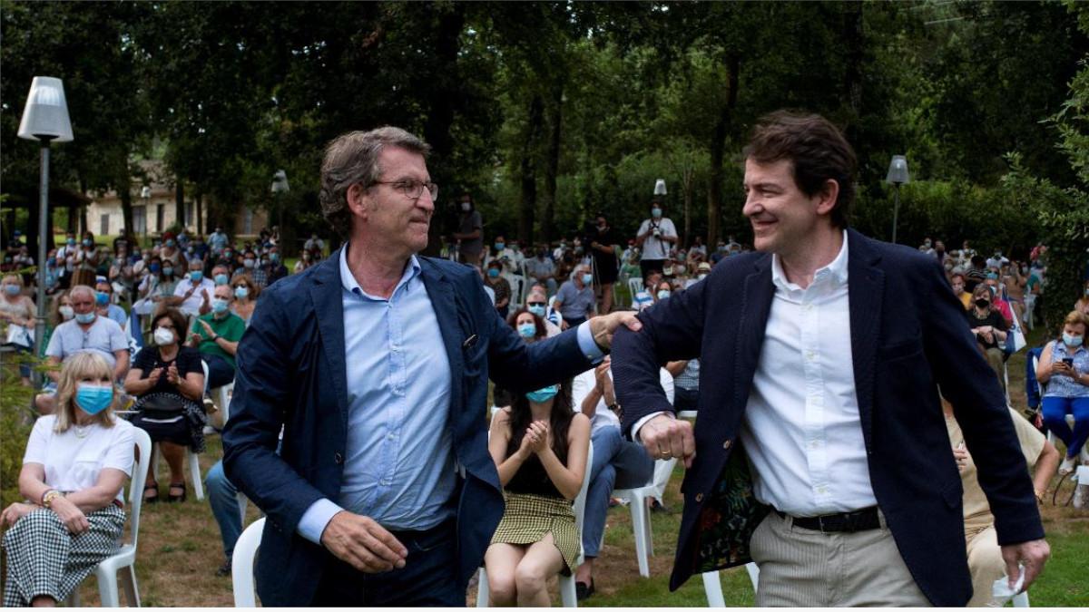 Alberto Núñez Feijóo y Alfonso Fernández Mañueco
