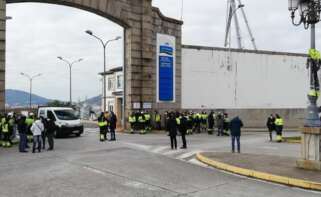 Vista exterior del astillero de Navantia en Ferrol