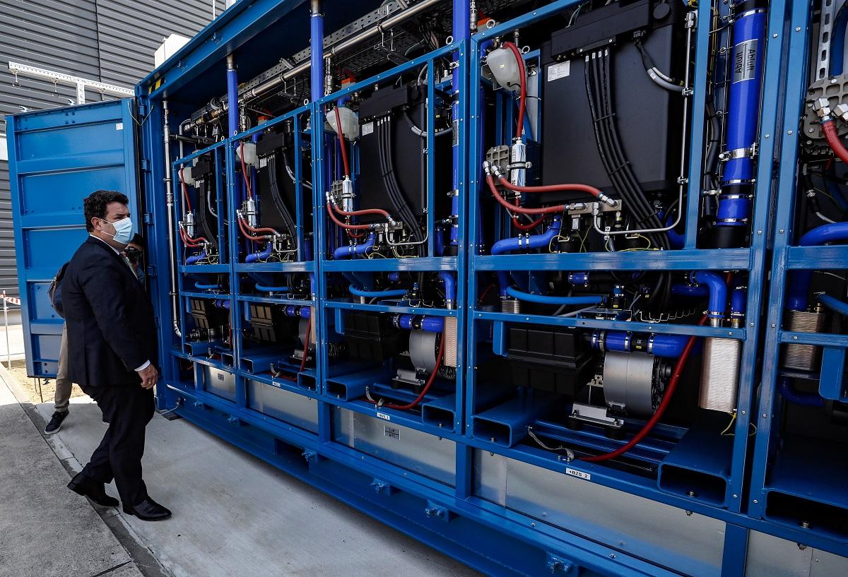 Inauguración de una planta de hidrógeno verde en Alemania. EFE.