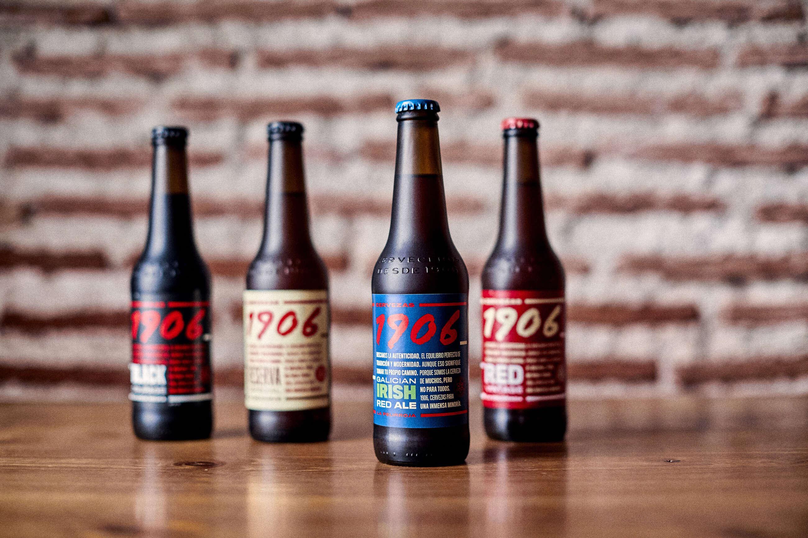 """Cervezas 1906 de Estrella Galicia, entre las que se encuentra """"La Pelirroja"""""""