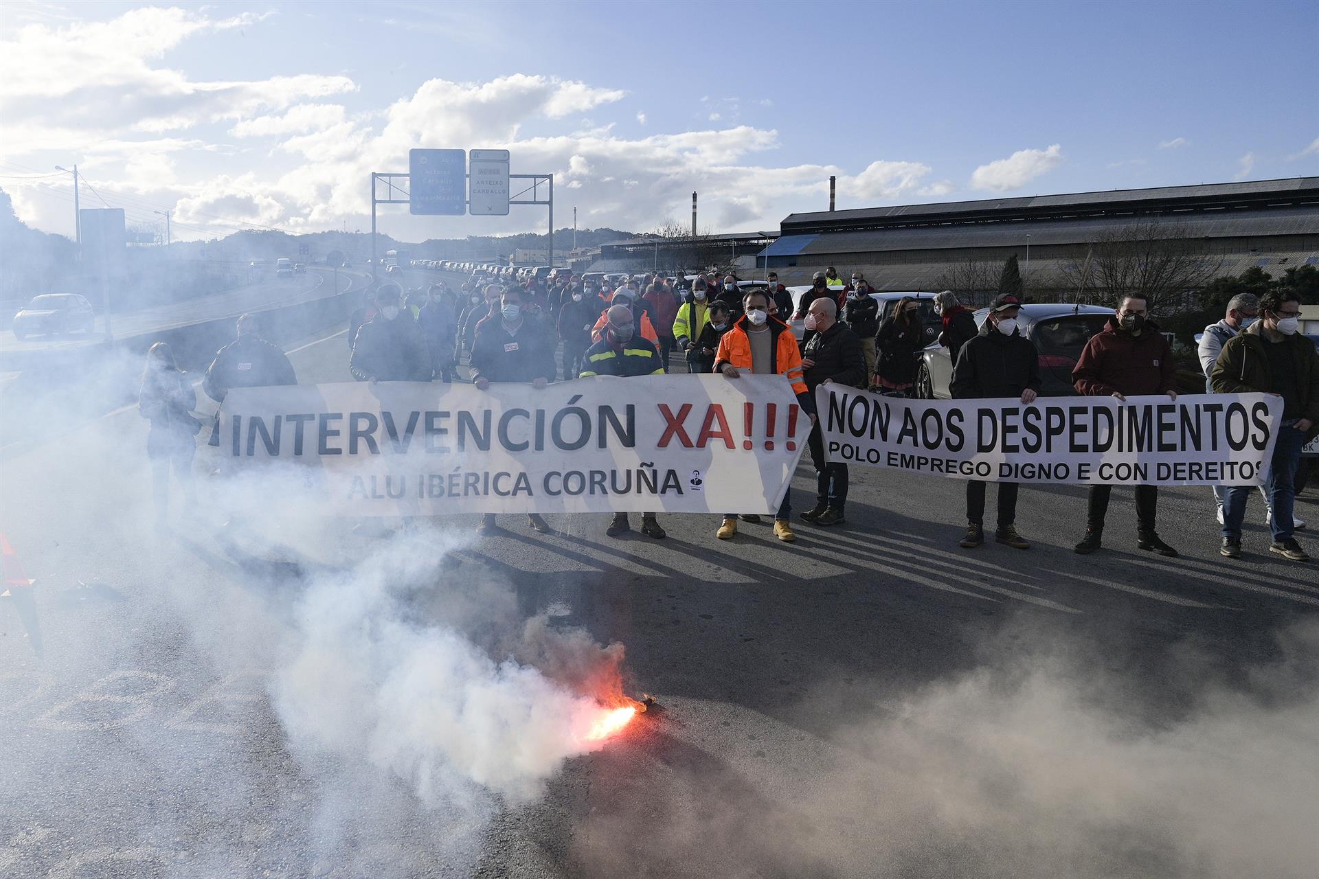 Imagen de archivo de protestas en Alu Ibérica