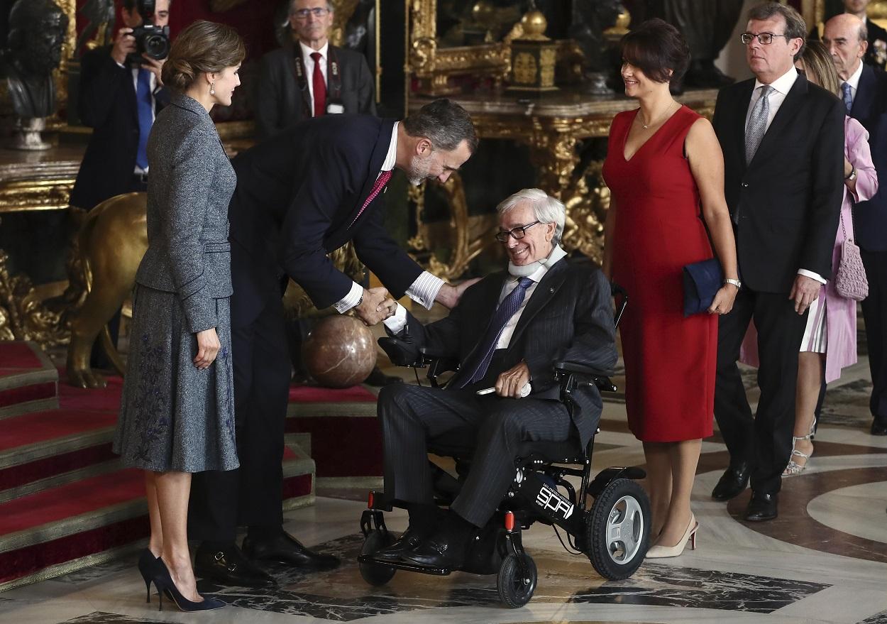 El exbanquero Francisco Luzón, en una recepción en el Palacio Real. EFE