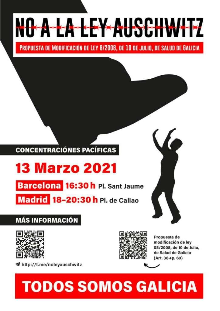Los negacionistas convocan protestas en Madrid y Barcelona contra la ley de Feijóo