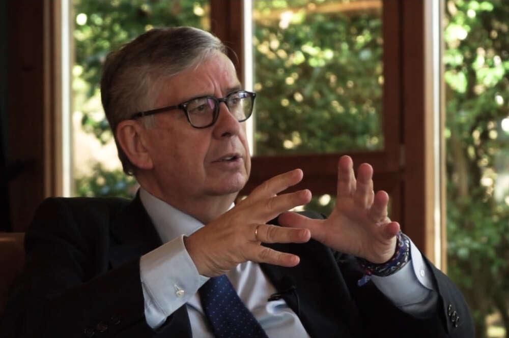 Juan Manuel Vieites, presidente de la Confederación de Empresarios de Galicia, durante la entrevista en los Observatorios de ED Galicia