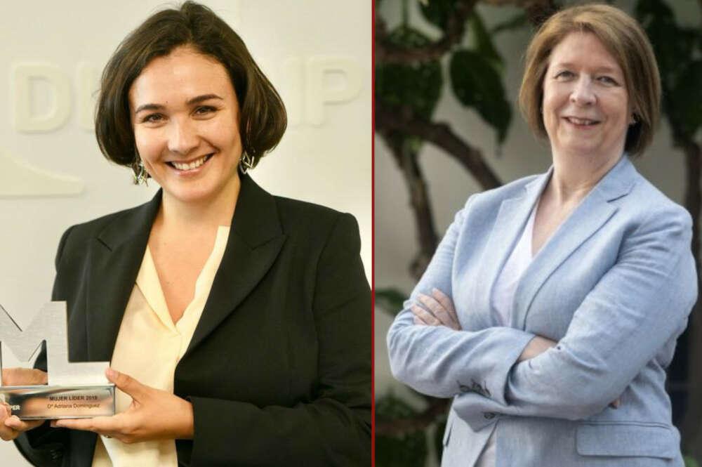 Adriana Domínguez, consejera delegada de Adolfo Domínguez, y Agnés Noguera, consejera delegada de Libertas 7