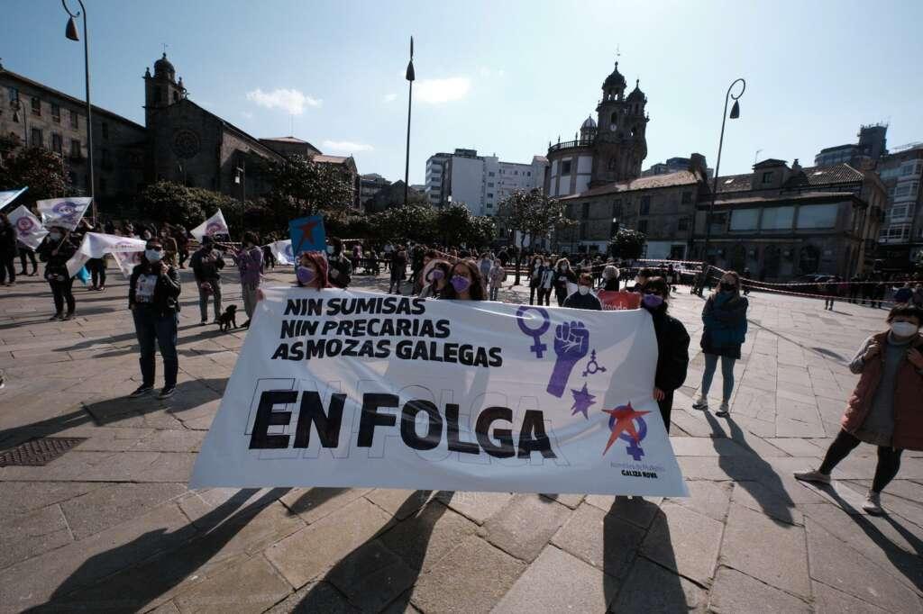 8-M: movilizaciones en las principales ciudades gallegas y un 4,3% de seguimiento de la huelga