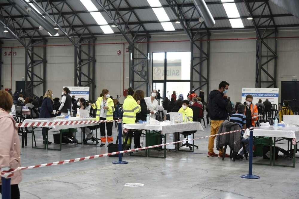 Vista general del Instituto Ferial de Vigo (Ifevi), en Pontevedra, Galicia (España), a 13 de marzo de 2021. Un total de 4.400 personas serán inmunizadas por un equipo de 60 profesionales sanitarios que administrarán la vacuna de AstraZeneca a los ciudadan - Europa Press