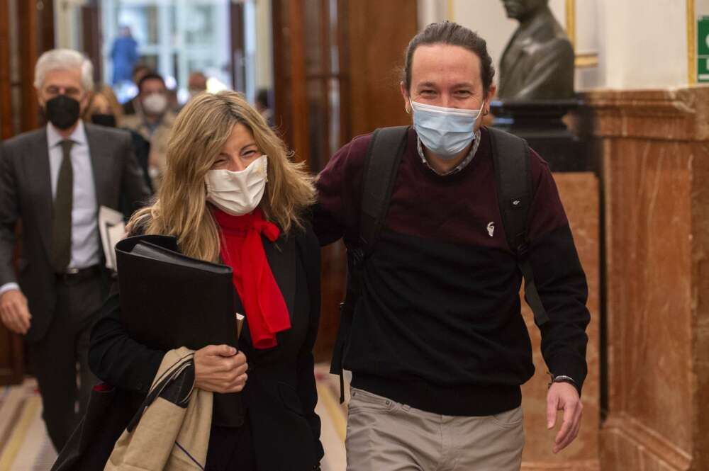 La sombra de Pablo Iglesias se cierne sobre el liderazgo de Yolanda Díaz