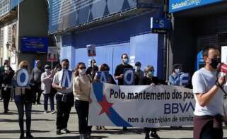 Los sindicatos prevén movilizaciones contra el ERE de BBVA, que afectará a más de un centenar de trabajadores en Galicia / CIG