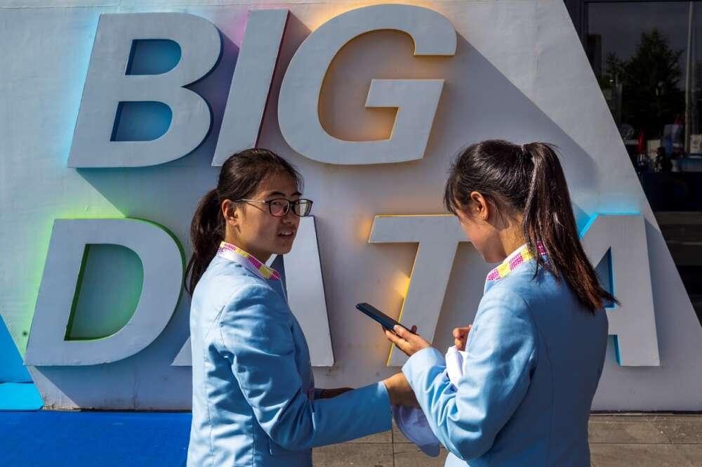 Exposición Big Data en Guiyang, provincia de Guizhou, China, el 28 de mayo de 2018. Foto: EFE