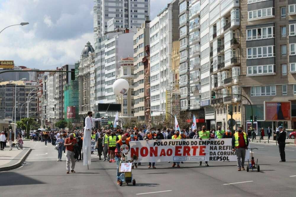 Movilización contra el ERTE de Repsol en A Coruña / CIG