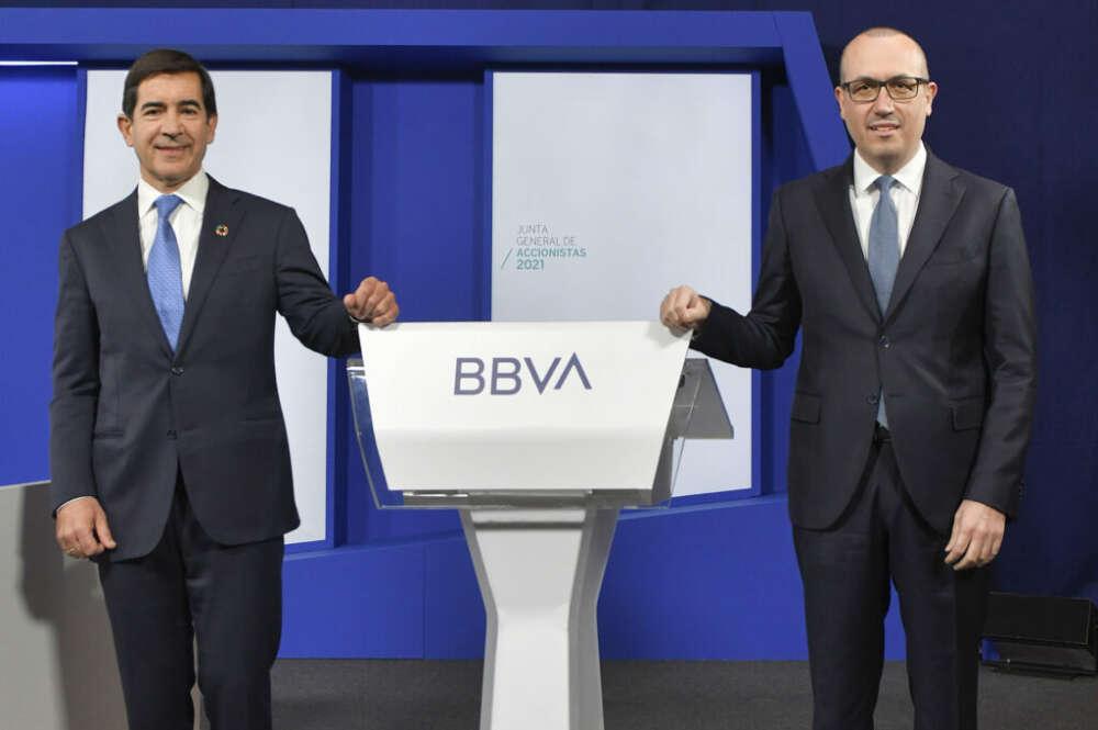 Carlos Torres Vila y Onur Genç, presidente ejecutivo y consejero delegado de BBVA
