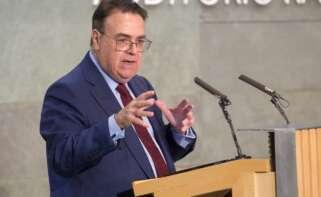 Antonio Llardén, presidente de Enagás, en unas jornadas sobre hidrógeno verde. Foto: EFE