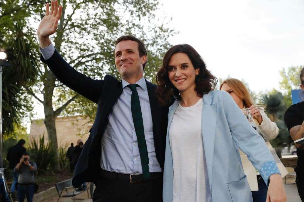 Pablo Casado e Isabel Díaz Ayuso