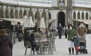 Imagen de una terraza en A Coruña. Foto: Europa Press