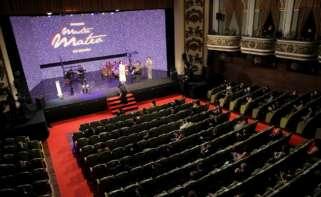 Los Premios Mestre Mateo celebran este año su XIX edición en una ceremonia presencial, tras un año de pandemia, para reivindicar la seguridad de los eventos culturales pero con estrictas medidas de protección. EFE/Cabalar