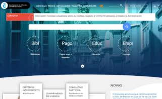 Web do Concello da Coruña