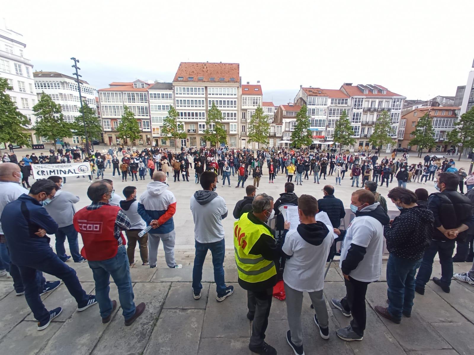 Ola de solidaridad en la primera huelga en la historia de Cándido Hermida