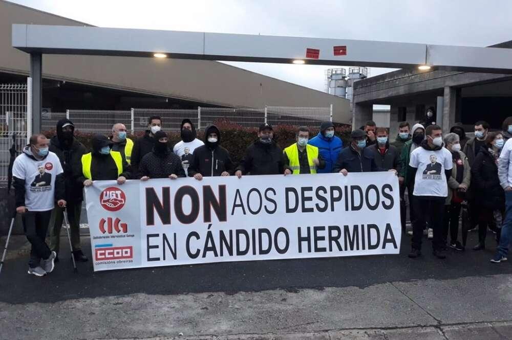 Sindicatos cifran en un 80% el seguimiento de la huelga convocada este jueves en el grupo Cándido Hermida. Foto: Europa Press