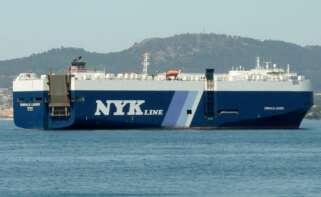 El buque Emerald Leader está aislado en el puerto de Vigo tras detectarse ocho positivos entre la tripulación / http://maritime-connector.com