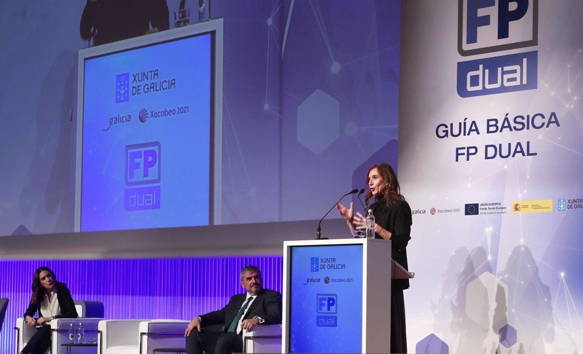 La exconselleira de Educación, Universidade e Formación Profesional, Carmen Pomar, inauguró en 2019 la primera jornada técnica de FP Dual / EP