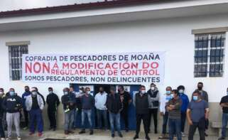 Protesta de marineros gallegos contra el nuevo reglamento europeo de control de la actividad pesquera, que afecta a marisqueo y pesca artesanal. - EUROPA PRESS