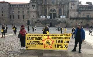 El sector de la peluquería y estética gallega vuelve a salir a la calle para reclamar la bajada del IVA