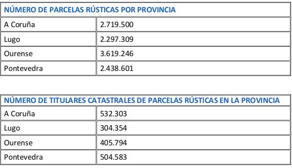 En Galicia hay más de 11 millones de fincas rústicas, cuatro por habitante