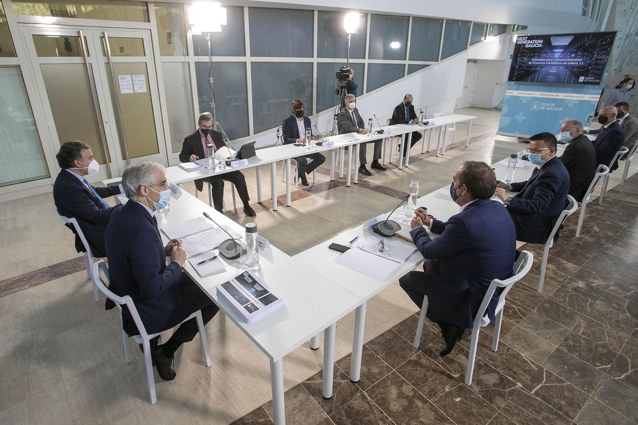 Constitución del consejo de administración de la sociedad público privada que impulsará la captación de fondos europeos para proyectos de recuperación en Galicia