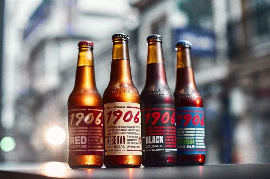 La familia de cervezas 1906 de Hijos de Rivera, que prepara una nueva campaña para afianzar su posicionamiento en el segmento premium