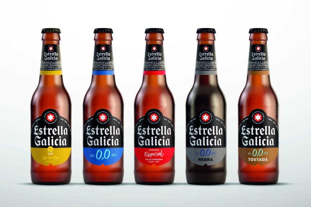 Nueva imagen de la familia de cervezas Estrella Galicia