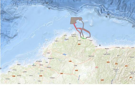 El plan de Iberdrola: 70 aerogeneradores en el mar a 13 kilómetros de la costa gallega