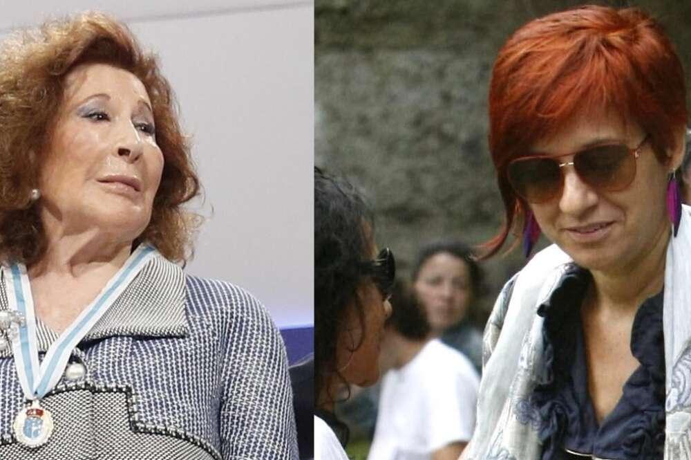Isabel Castelo, dueña de Seguros Ocaso, y Sandra Ortega, propietaria de Rosp Corunna y de una participación del 5% en Inditex. Fotos: Archivo EFE
