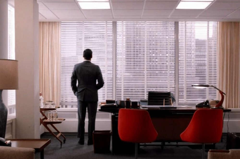 John Ham en uno de los fotogramas de la serie Mad Men de AMC
