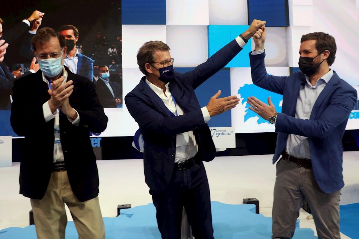 Rajoy, Feijóo y Casado