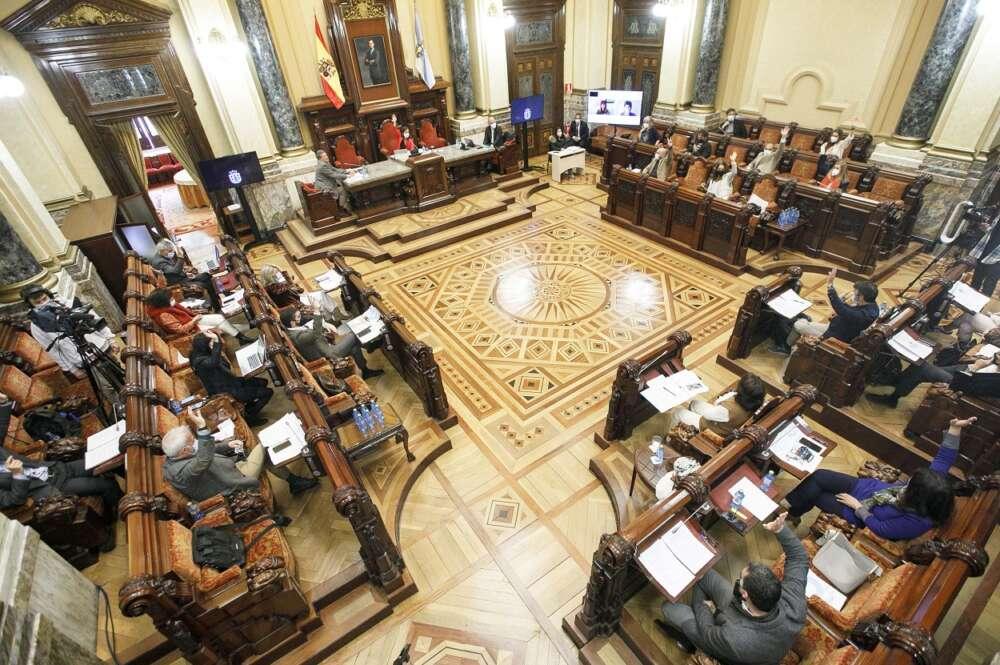 Imagen del Pleno del Ayuntamiento de A Coruña. Foto: Ayto Coruña