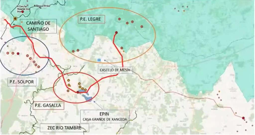 Un macroproyecto eólico amenaza al mayor productor ecológico de Galicia