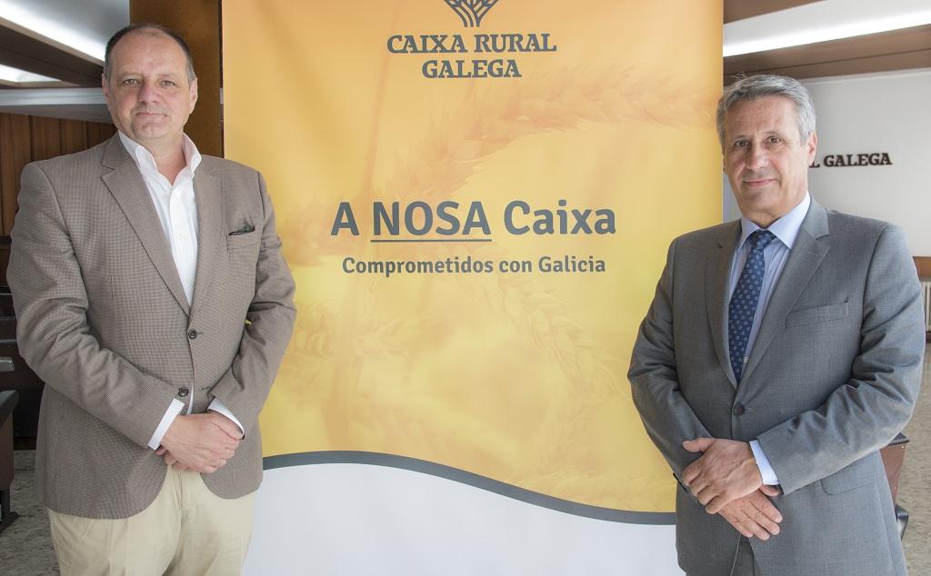 Jesús Méndez y Manuel Varela, director y presidente de Caixa Rural Galega