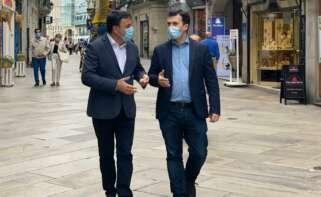 Valentín González Formoso, presidente de la Diputación de A Coruña, y Gonzalo Caballero, secretario xeral del PSdeG / PSdeG