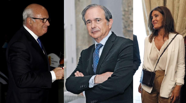 Ramón Reñón, Antonio Abril y Eva Cárdenas, miembros de la alta dirección de Inditex que abandonaron el grupo entre este año y 2018. Fotos: Casa Real y EFE